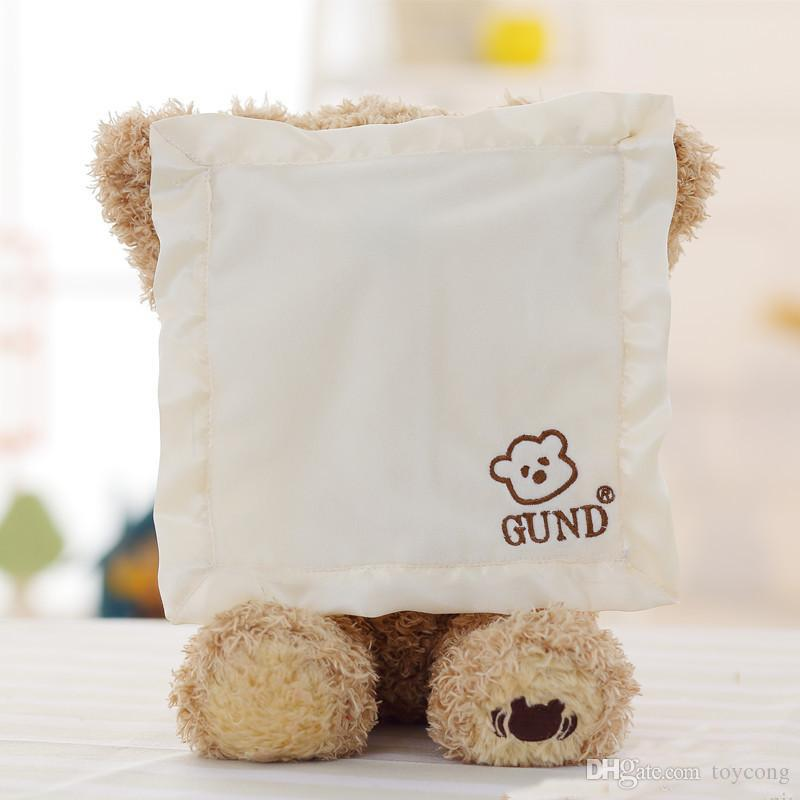 Peek a Boo Teddy Bear Jugar a Hide And Seek Lovely Cartoon Peluche Teddy Bear Regalo de cumpleaños para niños Oso lindo de peluche de juguete