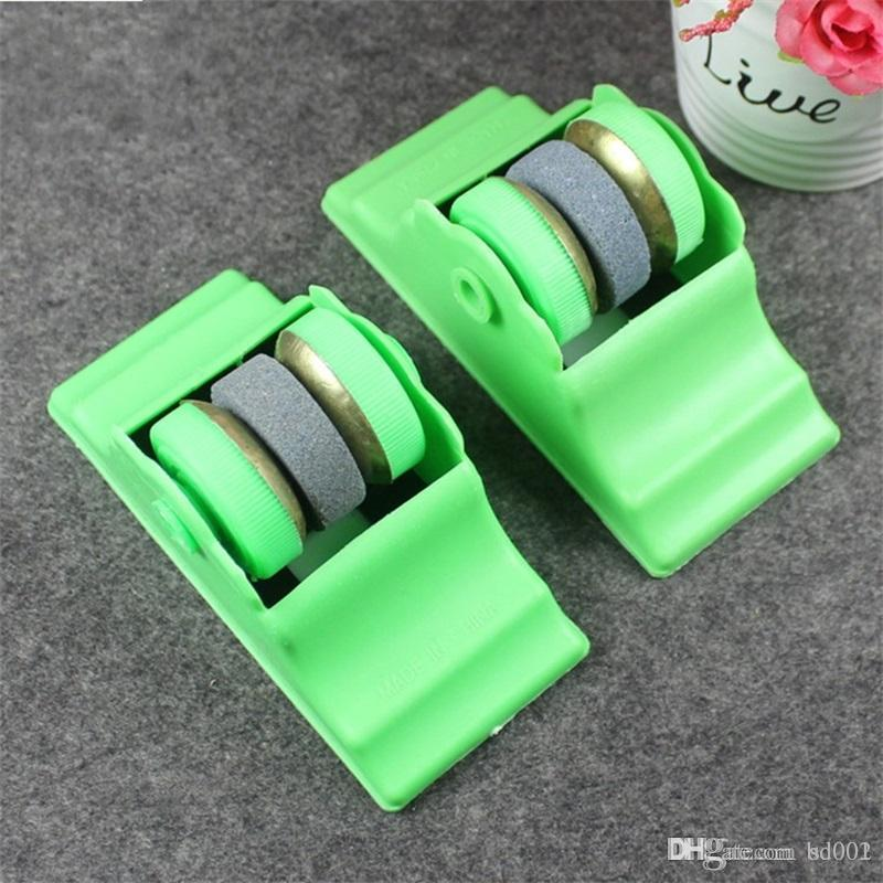 Two Plastic Sharpeners Practical Convenient Labor Saving Round Knife Sharpener Fixed Type For Household Kitchen Accessories 1 1dz ff