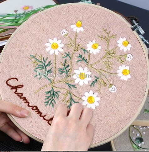 Gagqeuywe Fresh Flower Spring Colors Hand Embroidery Beginners