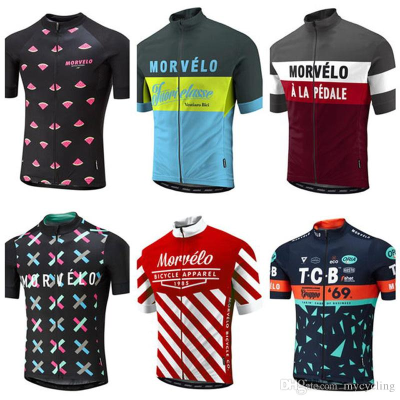 2018 Summer Morvelo Cycling Jersey Short Sleeve Cycling Shirt Bike Clothes  Racing Bicycle Clothing Quick Dry Ropa Ciclismo F0801 Tie Dye Shirts T  Shirts For ... c44eff7a1