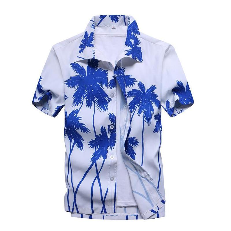 1876eabc 2019 Ahkuci Mens Hawaiian Shirt 2017 Summer New Casual Camisa Masculina  Floral Printed Short Sleeve Male Beach Shirts Plus Size From Cactuse, ...