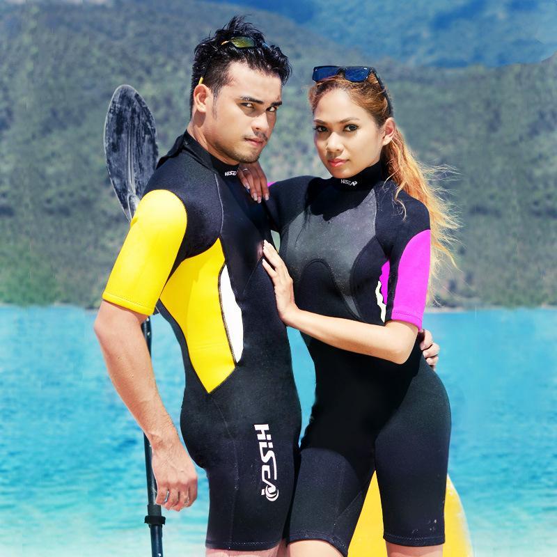 df07d2c881 2019 3mm Short Sleeved Lovers Men Women Wetsuit Snorkeling Jumpsuit Full  Body Dive Wet Suit One Piece Winter Swim Warm Surfing Suits From Dakege
