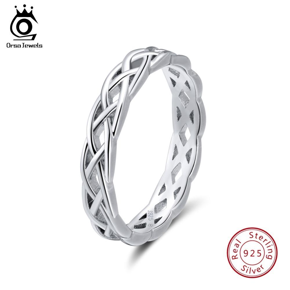 Großhandel Orsa Jewels 925 Sterling Silber Ringe Frauen Einzigartige  Twisted Form Runde Ring Ehering Modeschmuck Jubiläumsgeschenk Sr62 S109 Von  Ruiqi09, ... a17d335a31