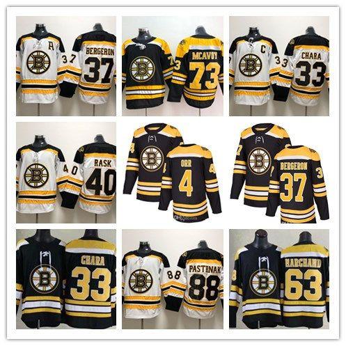 135c171c9f6 Acquista Nwt 2018 Boston Bruins Hockey 37 Patrice Bergeron 33 Zdeno Chara  40 Tuukka Rask 73 Charlie Mcavoy 4 Bobby Orr 63 Marchand 46 Krejci Maglie A   28.03 ...