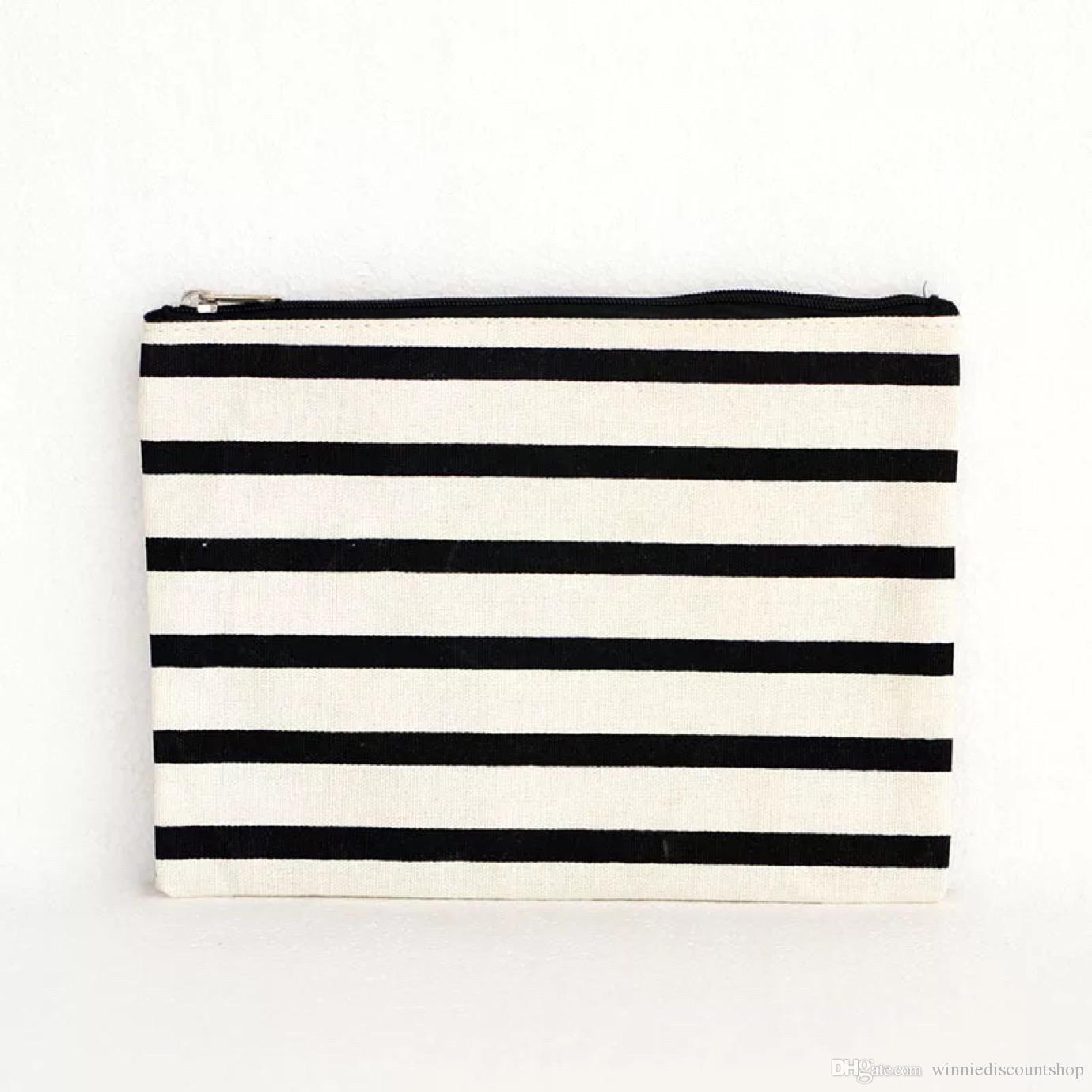 wholesale promotional pencil custom small blank canvas zipper bag