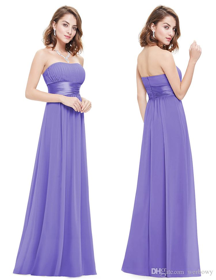 Long Bridesmaid Dress Chiffon Bra V-neck Shoulder Halter High Waist Bridesmaid Prom Dress Multi-colored Chiffon Bridesmaid Dresses HY144
