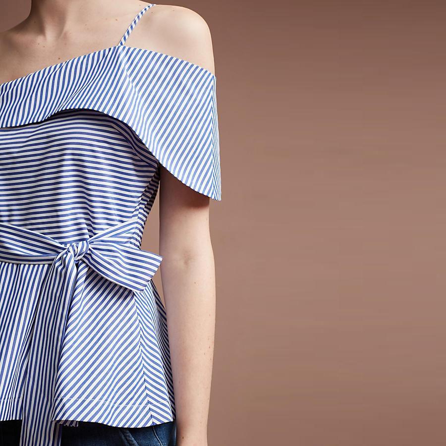 Camicetta a maniche lunghe con spalle scoperte di Weyes Kelf donna 2017 Camicette estive con una spalla e maniche lunghe Blusas da donna eleganti da party