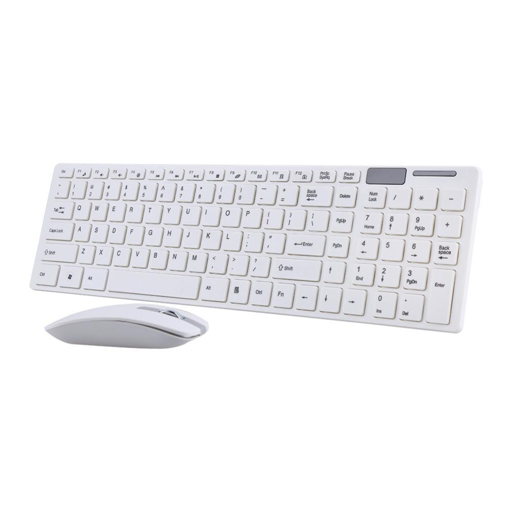 2 4G Optical Wireless Keyboard and Mouse Mice USB Receiver Combo Kit for  MAC PC Computer Wireless Mouses USB receivers