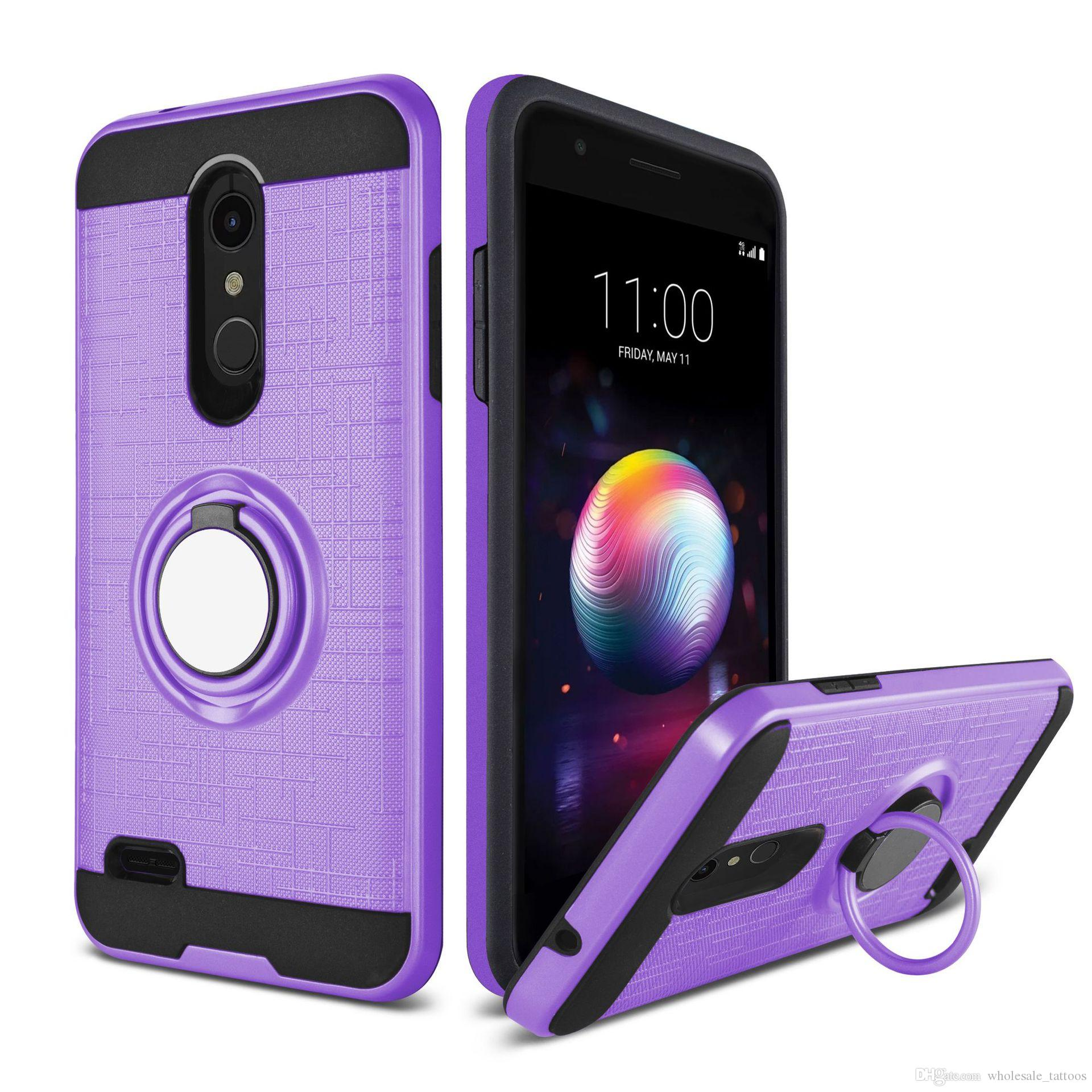 best authentic 68f46 10091 Hybrid Armor Case For ZTE Grand X4 Z971 Z956 V6 MAX A610 ZMax Pro 2 Sequoia  Z982 Shockproof 360 Ring Stand Holder Magnetic Back Cover