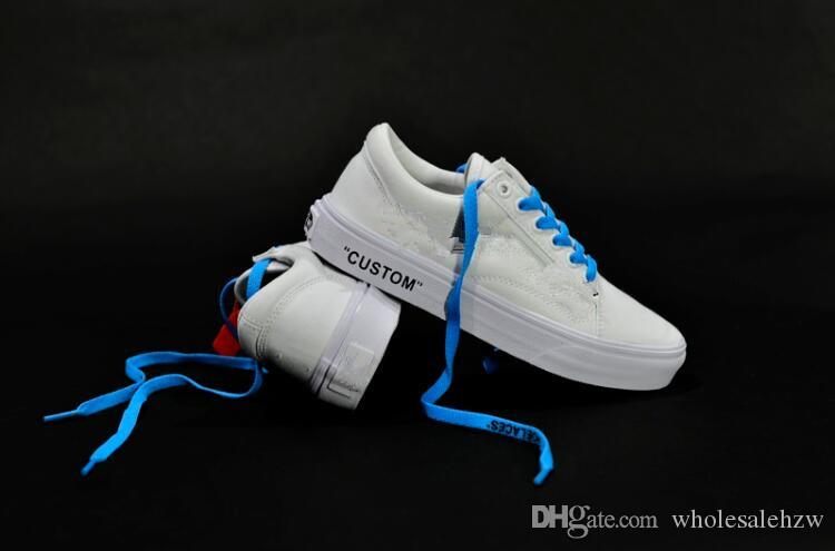 5a705484fa New Arrival Original Old Skool Shoes Black Blue Red Classic Mens ...