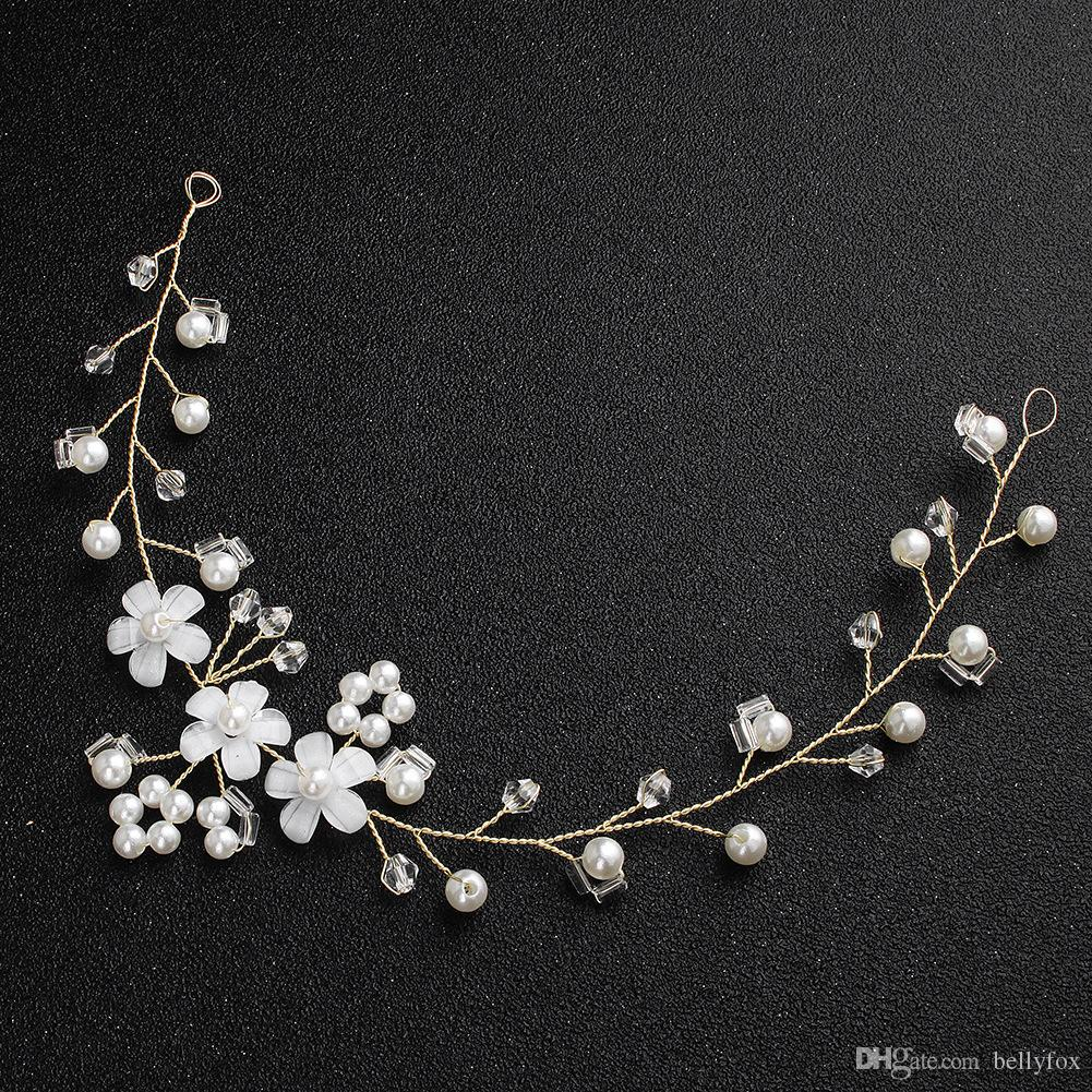 2de8e780b4b Korean New Simple Headband Hair Band Pearl Crystal Resin Flower Headwear  Jewelry Accessories Gift Head Jewelry Wedding Online with  31.14 Piece on  ...