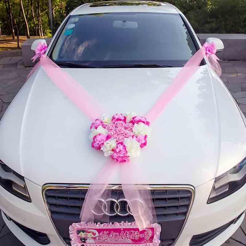 2019 Wedding Car Decorative Flowers Wreaths Artificial Flowers Car