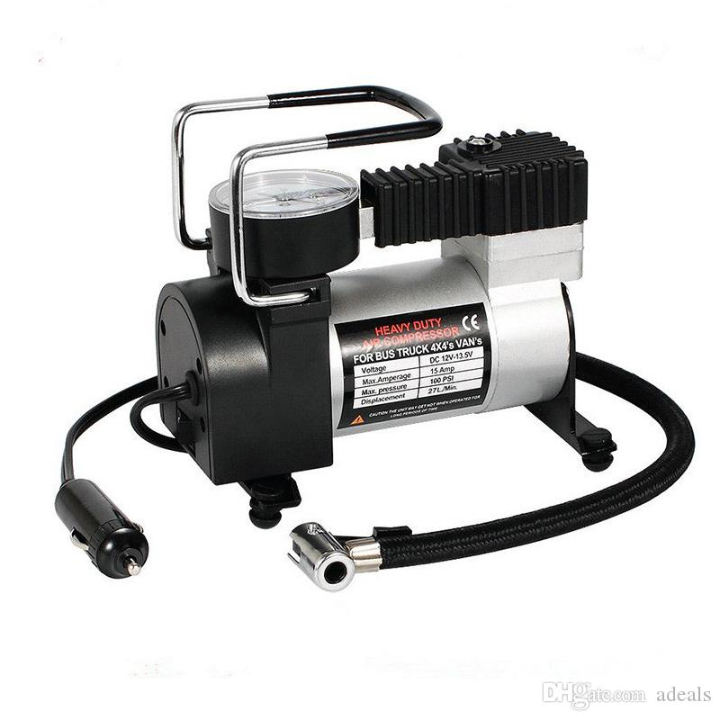 100 Psi Mini Air Compressor 12v Car Auto Portable Pump Tire Inflator