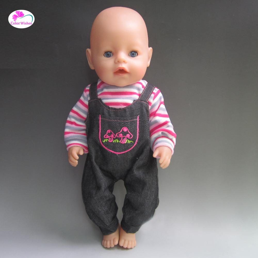 Ajuste 43 cm Zapf Baby Born Doll Ropa Vestido casual Ropa Regalo de Navidad Accesorios para muñecas No hay muñecas