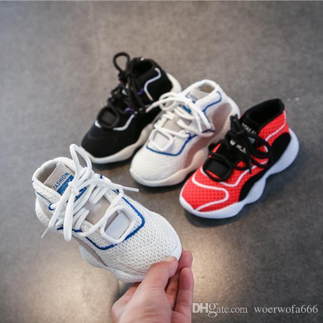33971f60c76eb Acquista Scarpe Sportive Bambini S Scarpe Bambini 2019 Autunno Nuovi  Ragazzi In Pelle Il Tempo Libero In Esecuzione Scarpe Da Basket Bambino Net  Scarpe 26 ...