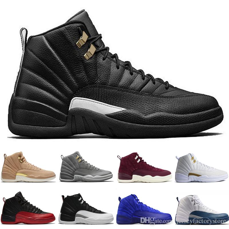 outlet store 2e736 5adc2 12 12s men basketball shoes Bordeaux Dark Grey Flu Game The Master Taxi  Playoffs French Blue Gamma Barons PSNY Purple Sunrise Sport sneakers