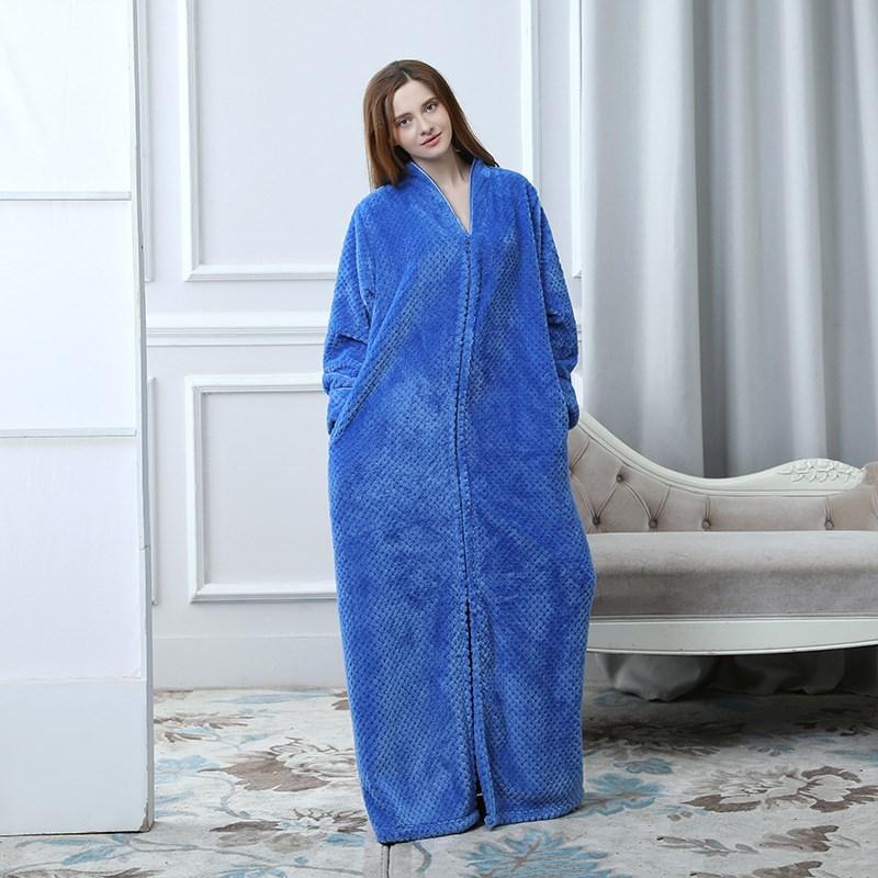 Extra Long Winter Warm Coral Fleece Bathrobe Women Men Flannel Kimono Bath  Robe Plus Size Dressing Gown Robes Cheap Robes Extra Long Winter Warm Coral  ... 39be4ed3c713