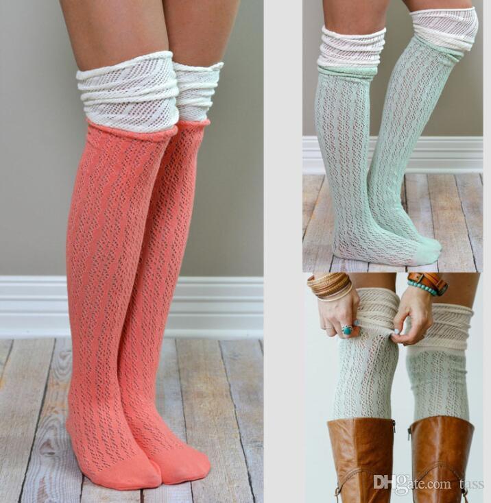 купить оптом женщины вязаные чулки дамы весна осень теплые носки