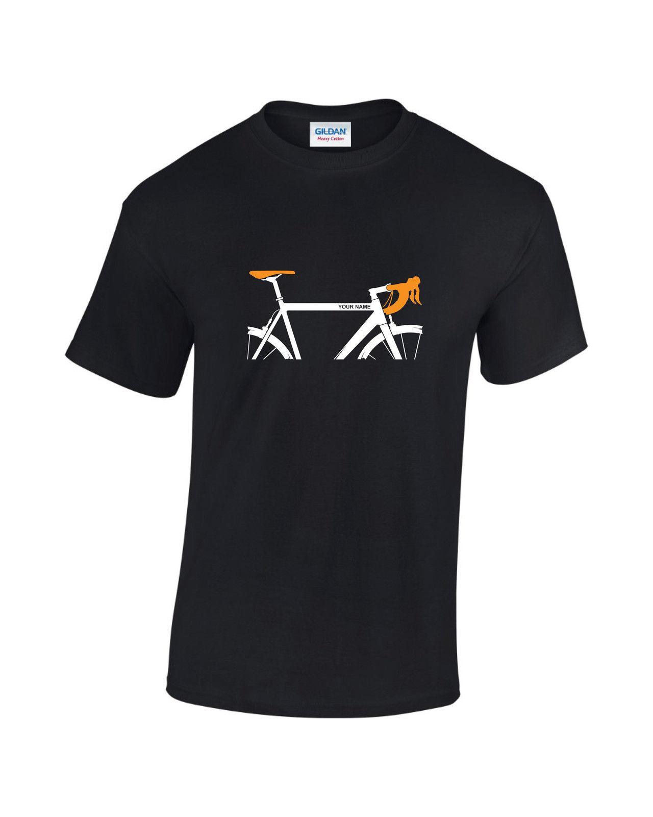 Custom Printedpersonalised Pro Cycling Road Bike Mens T Shirt