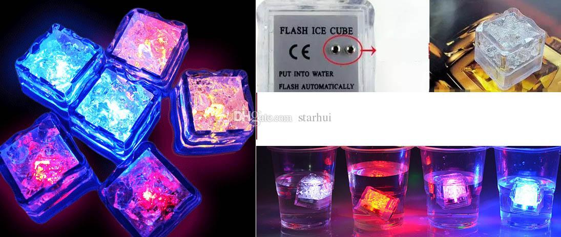 Led Ice Cube Flash lento blocco fluorescente Auto cambio Crystal Cube Bar Party matrimonio San Valentino XMAS fornitore WX9-527
