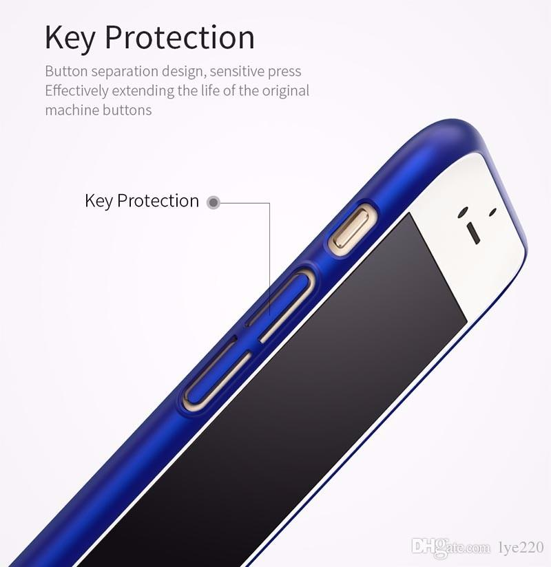 Ultra-thin Case For iphone XS Max XR X 8 7 6 6S Plus Mobile Shell Simple Frosted Hard Case For Samsung S8 S9 Note 8 9 Phone Protective Case