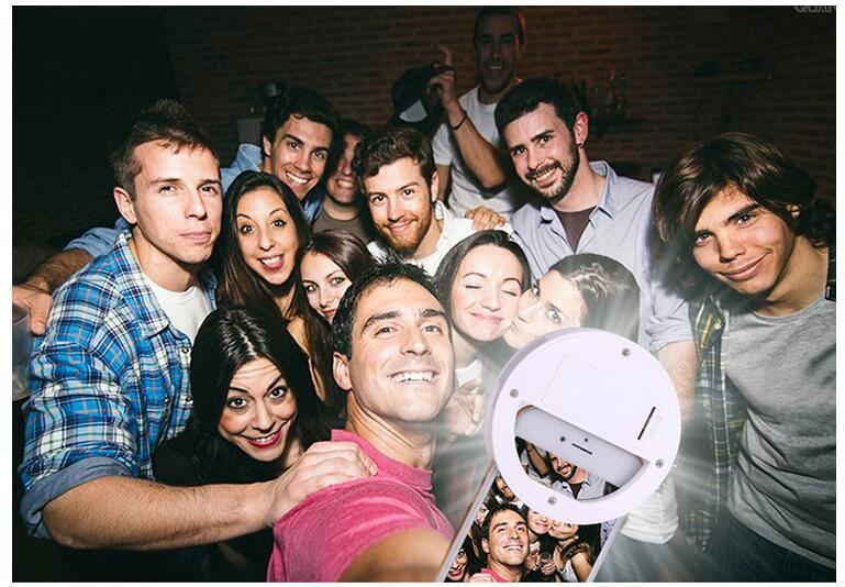 Nuevo teléfono móvil Selfie LED Anillo Flash Lente Belleza Luz de relleno Lámpara Clip portátil para teléfono celular con cámara Smartphone