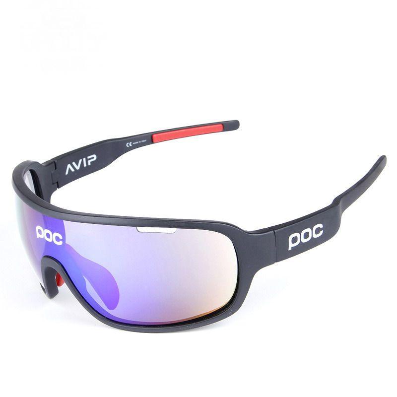 cfd4105aa1 Poc Polarized Sports Cycling Glasses Gafas De Sol Con 5 Lentes  Intercambiables Para Hombres Mujeres Ciclo Bicicleta Correr Pesca Conducir  Golf Por ...