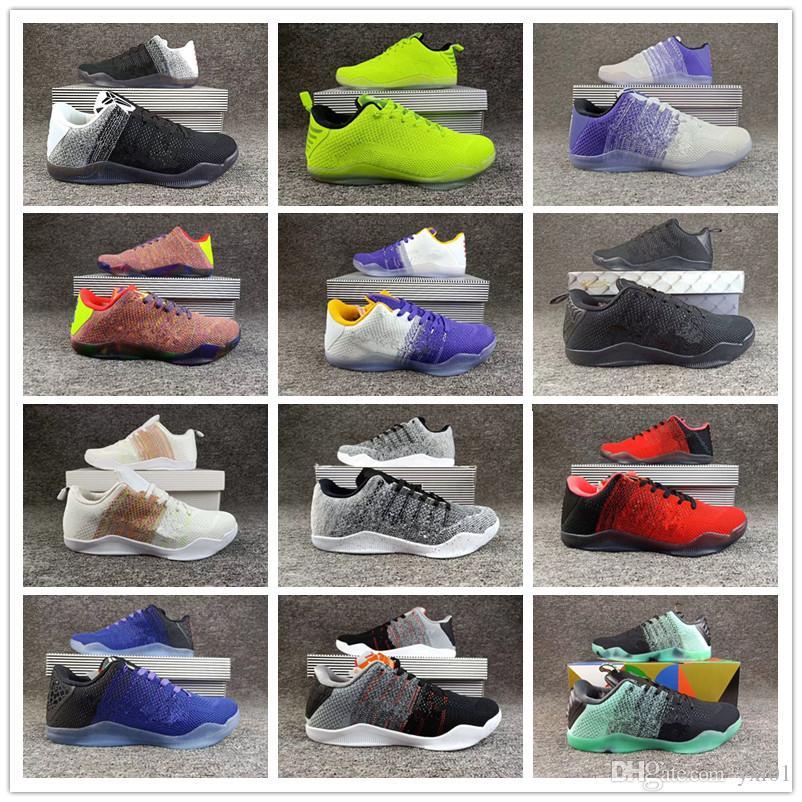 best website dc3c1 bdb4b Großhandel 2018 Heiße 12 Farben Kobe 11 XI Elite BHM Eulogy Schwarz Zement Basketball  Schuhe Für Hohe Qualität KB 11 S Herren Turnschuhe Sneakers40 46 Von ...