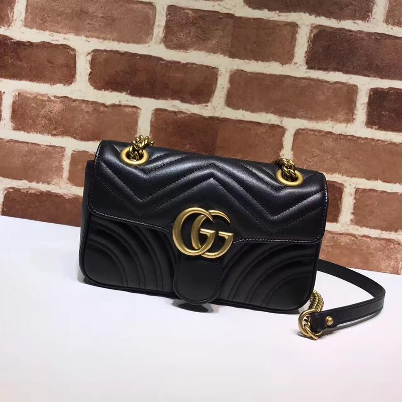 128c6236011f Top Quality Luxury Brand Design Letter Metal Buckle V-shaped Shoulder Chain  Bag Cowhide Leather Woman 446744 Crossbody Bag 2G Bag Brand Letter Bag  446744 ...