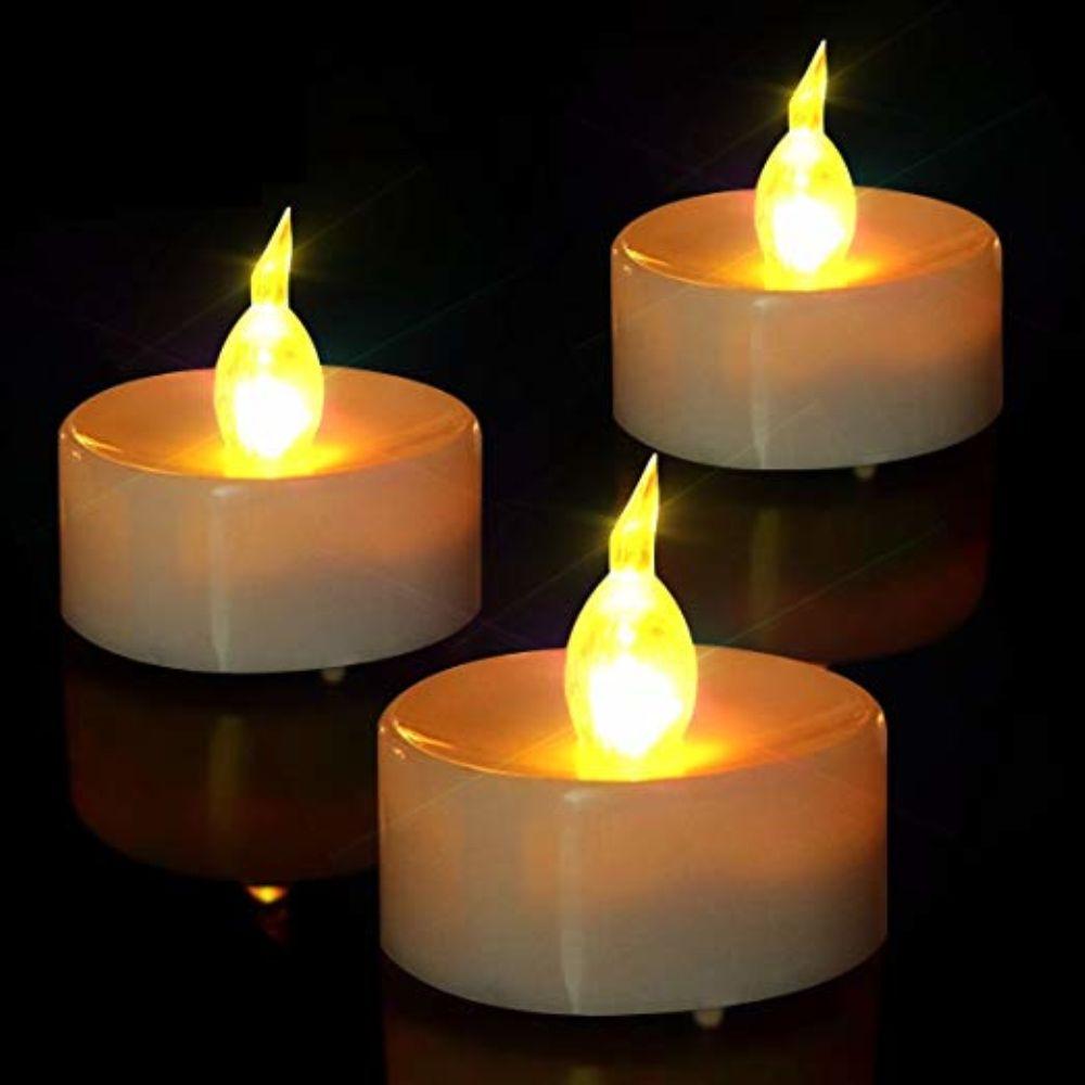 Plastique Pillar Candle Cadeau Lampe Piles 24 Velas Led Télécommande Tealight Noël Comprennent De Cnadle Décorations Pièces Maison En AL35cRq4j