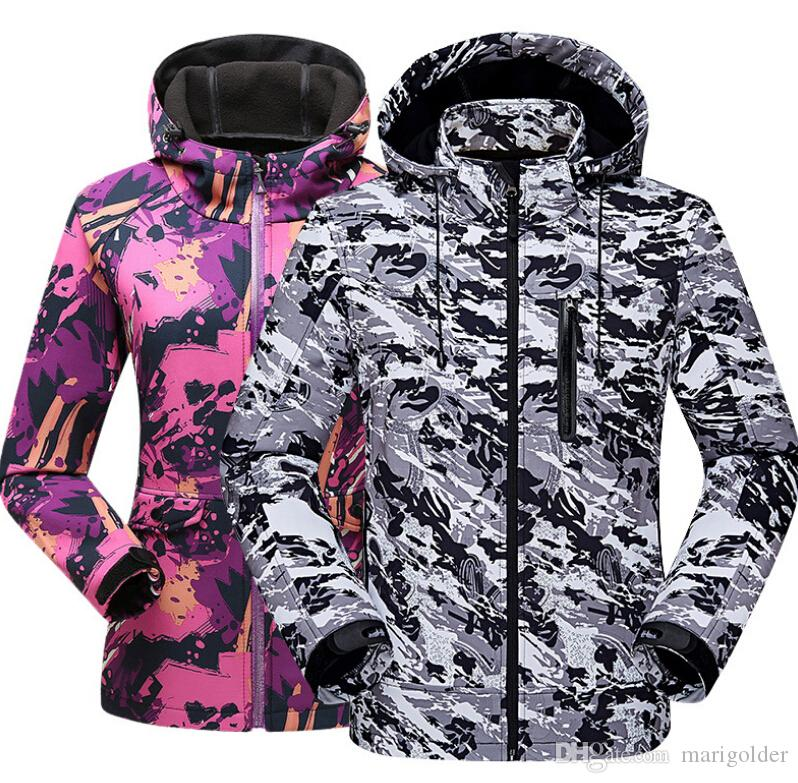 27e3ecea4f3 2019 Jackets Winter Plus Size Couple Camouflage Clothing Outdoor Breathable  Waterproof Windproof Mountaineering Clothes From Marigolder