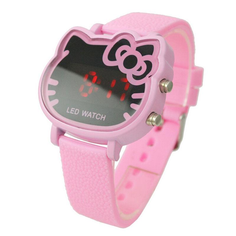 c333144f4 New Women Watches Led Digital Watch Hello Kitty Watches For Girls Rubber  Strap Led Digital Watch Relogio Femenino Reloj Mujer Buy Cheap Watches  Cheap Wrist ...