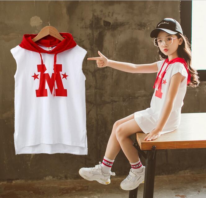86980de90498 Girls Sport Style Dress Long T Shirt Dress Short Sleeve Kids ...