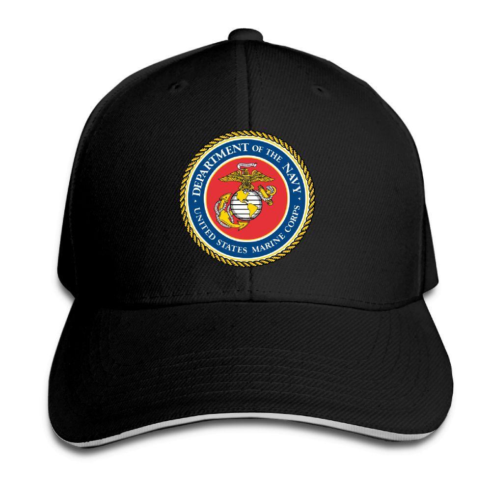 12fd3518ebf57b Baseball Cap United States Marine Corps USMC Print Mens Womens Baseball Caps  Adjustable Snapback Caps Fashion Hats Man Femal Hat Richardson Hats  Headwear ...