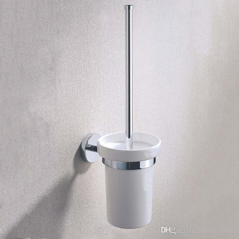 chrome plated brass toilet brush and holders with wall mounted rh dhgate com