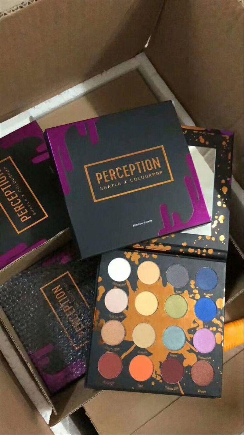 2018 PERCEPTION SHAYLA X COLOURPOP SHADOW PALETTE Glitter Shimmer Eye Shadow Palette Makeup colour pop