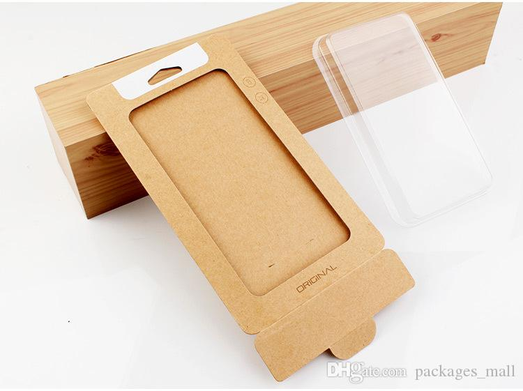 Retail Packaging Box Kraft Paper Packing Box Blister Holder for iPhone 6 6S 7 8 Plus X 10 Samsung Note 8 5 S7 S6 Edge Phone Case Cover Craft