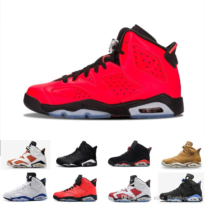 5ba427f18d25 6 6s Mens Basketball Shoes Classic UNC Infrared Carmine Toro Hare ...