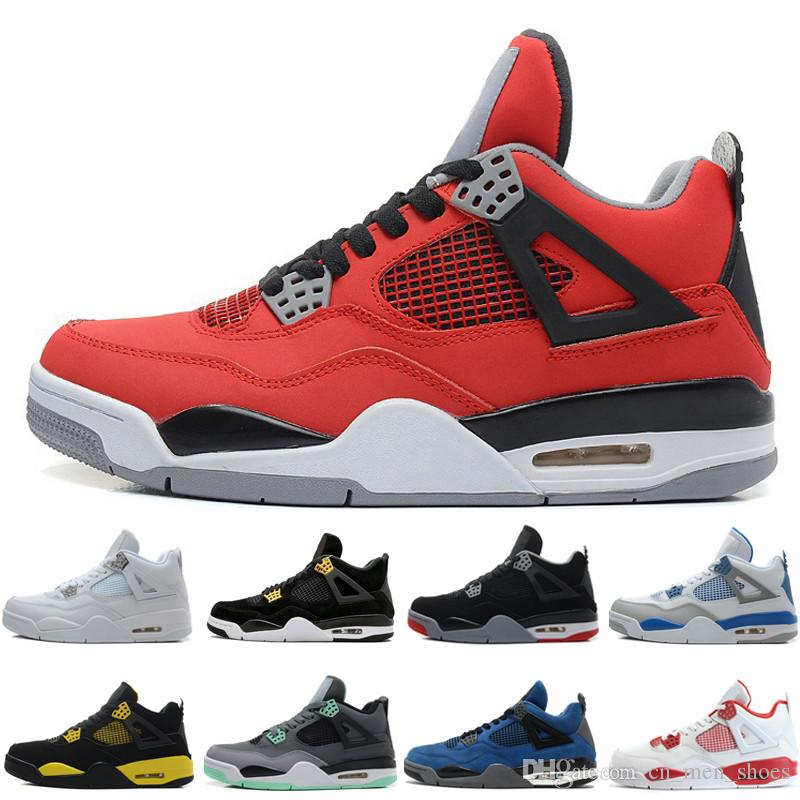 98dc2e5405f7 New 4 4s Mens Basketball Shoes Fear Pack Royalty Toro Bravo Angry ...