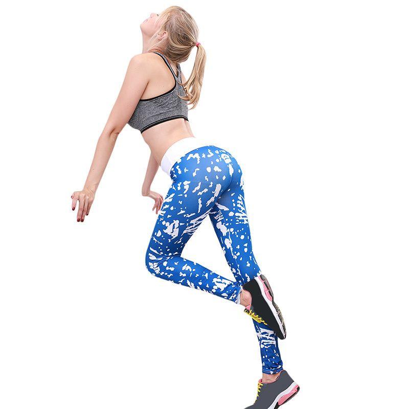 aa2eb1f47c593 Compre Poliéster 2019 Casual Mujer Ropa Deportiva Leggins Cintura Alta Push  Up Fitness Legging Pantalones Elástico Entrenamiento Leggings Para Mujeres  A ...