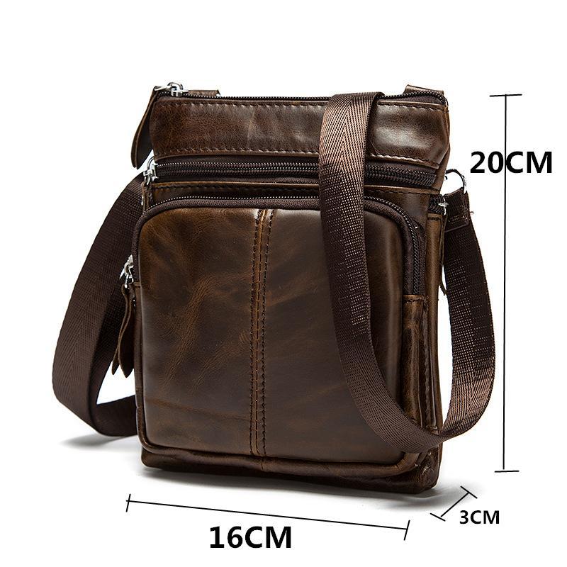 Genuine Leather Mens Shoulder Bags Mini Fashion Crossbody Bags ... 68ed4dd310816