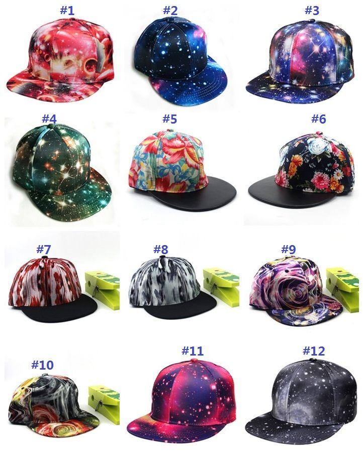 e9bef1f33c3 2019 Baseball Cap Cool Sun Hats Adjustable Starry Sky Snapback Hip Hop  Dance Hat Summer Outdoor Men Women Visor 12 Styles Mk499 From  Goodgoods 2017
