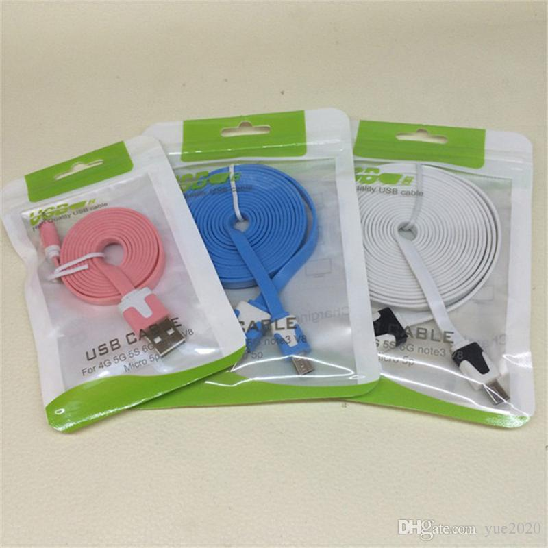 Clear White Plastic Poly Bags OPP Packing Zipper Lock Package Accessories PVC Retail Boxes Handles for USB Cable Cellphone Case Wall Charger