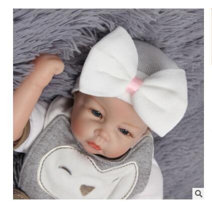 5b126a74dfb 2019 Hair Bows Hat Newborn Baby Girls Crochet Beanie Hats Toddler Kid Knit  Hair Accessories Girls Boy Bonnet Baby Winter Cotton Photography Caps From  ...