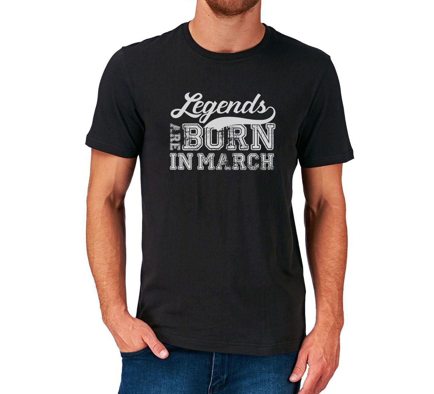 Star Fashion Marzo Regalo De Las Shirt O Mens Camisetas Presente Neck T Cumpleaños 100Cotton Brand Taurus Sign Son Nacidos En Aries 2018 xrtshQdC