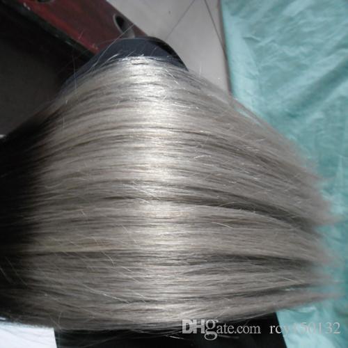 Ombre T1B / cinza em linha reta Silver Ombre Micro Loop Human Human Human Extensions 100% Humano Micro Bead Links Máquina Machine Feito Remy Hair Extension