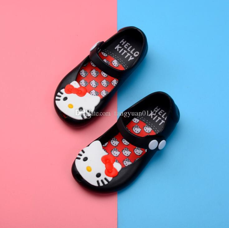 2018 Kids Shoes For Girls New Limited Strap Baby Rubber Mini Cute Bow Sandals Children Bowtie