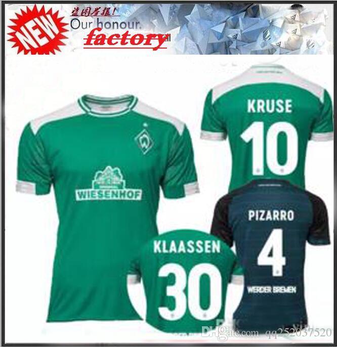 149bf32428 2019 2018 2019 SV Werder Bremen Soccer Jersey 18 19 Bremen Home Away Jersey  KRUSE M. EGGESTEIN OSAKO KLAASSEN PIZARRO Football Shirt From Qq252037520