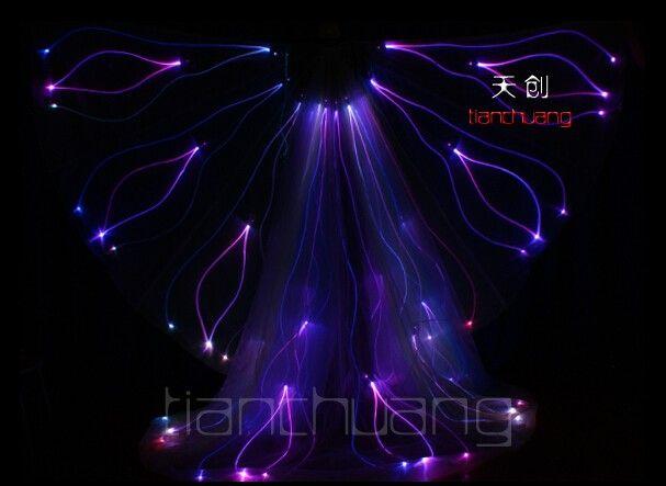 TC-76 Full color LED colorful light costumes LED ballroom RGB luminous clothes performance programmable LED cloak belly dance women dresses