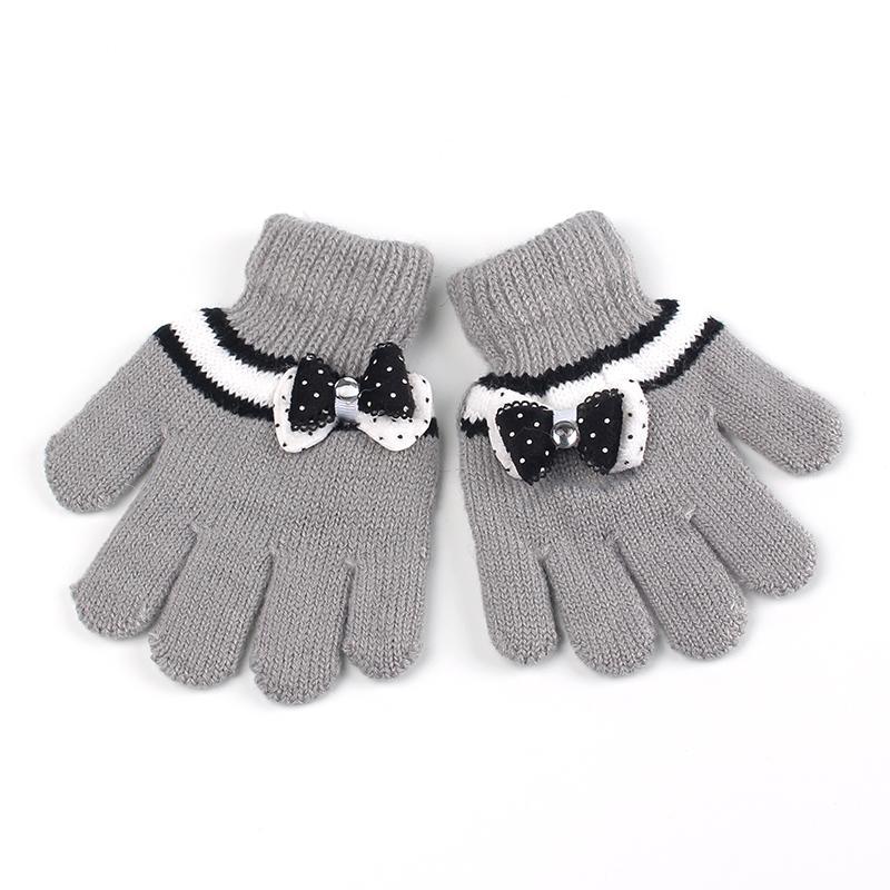 Großhandel Bogen Mädchen Handschuhe Baumwolle Häkeln Kinder